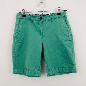Boden Green Chino Midi Shorts